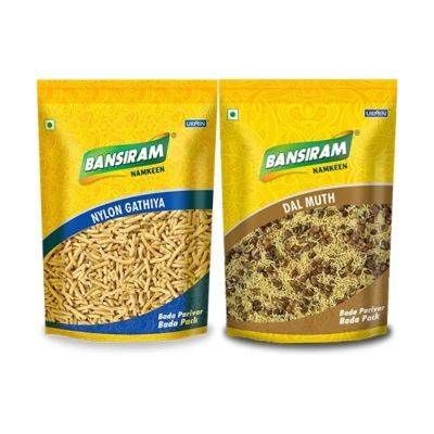 Bansiram NYLON GATHIYA AND DAL MUTH (2 x 400 g)