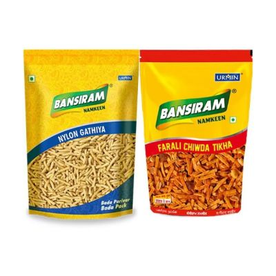 Bansiram NYLON GATHIYA AND FARALI CHIWDA TIKHA (2 x 400 g)