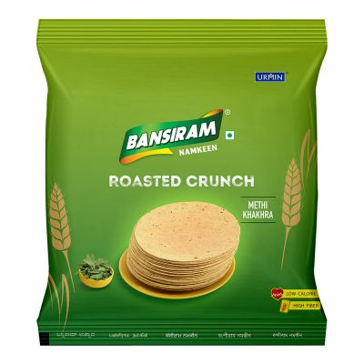Bansiram ROASTED CRUNCH METHI KHAKHRA Veg Pizza Pockets (360 g)