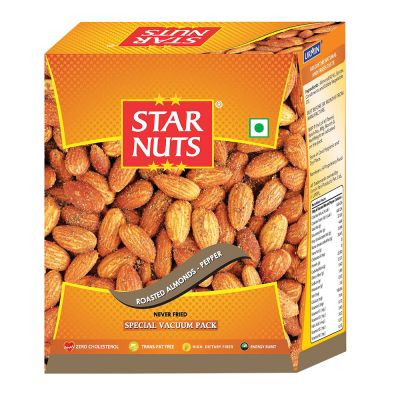 Starnuts ROASTED ALMONDS PEPPER Almonds (190 g)